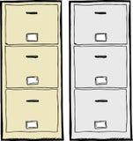 Filing Cabinet Illustration Royalty Free Stock Image