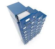 Filing cabinet isolated over white background Royalty Free Stock Photography