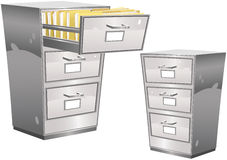 Filing cabinet Royalty Free Stock Images