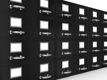 Filing cabinet on white Stock Photography