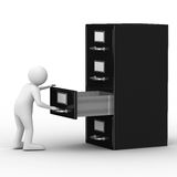 Filing cabinet on white Royalty Free Stock Photo