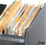 Filing Cabinet With Files Royalty Free Stock Photo