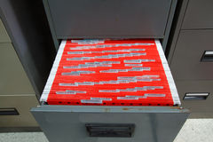 Filing cabinets Stock Image