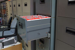 Filing cabinets Royalty Free Stock Photos