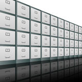 Filing Cabinets Background Stock Photos