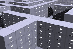 Filing cabinets ( 3D) Stock Photo