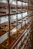 Filing cabinets in the library Stock Images