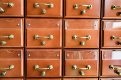 Filing cabinets in the library Royalty Free Stock Images