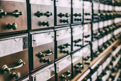 Filing cabinets in the library Royalty Free Stock Photography