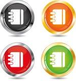 Filing folder icon. Button set Royalty Free Stock Photo