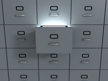 Filing office cabinet. Royalty Free Stock Images