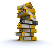 Filing and organizing information Royalty Free Stock Photos