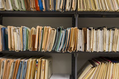 Filing records Stock Photos