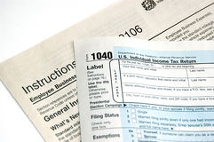 Filing tax Royalty Free Stock Image