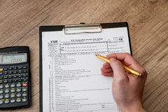 filing tax form 1120 Royalty Free Stock Image
