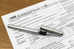 Filing Taxes stock images