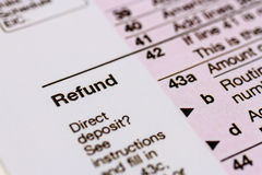 Filing Taxes and Tax Forms Royalty Free Stock Photo