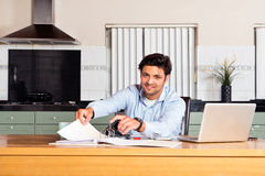 Filing transaction forms Royalty Free Stock Photography