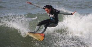 Filipa Prudencio in Nazare Surf Pro 2010 Stock Photos