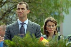 Filipe Burbon e princesa Leticia Foto de Stock Royalty Free