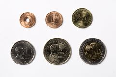 Filipińczyk monety na białym tle Obraz Stock