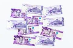 Filipińczyk 100 peso rachunek, Filipińska pieniądze waluta, Filipiński pieniędzy rachunków tło obraz royalty free