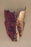 Filipińska ręcznie robiony, drewniana plemienna maska na ścianie, Zdjęcia Royalty Free