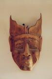 Filipińska ręcznie robiony, drewniana plemienna maska na ścianie, Obrazy Royalty Free