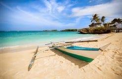 Filipińska tradycyjna łódź rybacka Zdjęcie Royalty Free