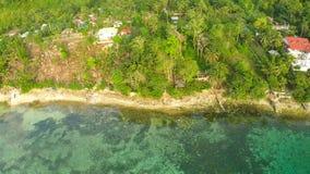 Filipińska wioska przy brzegową Bohol wyspą Anda Fotografia Royalty Free