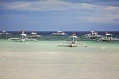 Filipiński łodzi bangka zdjęcie royalty free