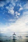 Filipiński łodzi bangka fotografia royalty free
