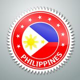 Filipińczyk flaga etykietka Fotografia Royalty Free