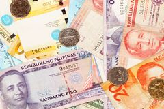 Filipińscy peso banknoty Fotografia Stock
