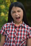 Filipina Adolescent And Anger imagem de stock royalty free