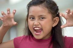 Filipina Adolescent assustador foto de stock