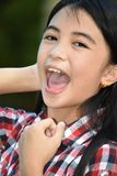 Filipina Adolescent And Laughter bonito fotos de stock royalty free