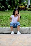 Filipina Adolescent louco fotos de stock royalty free
