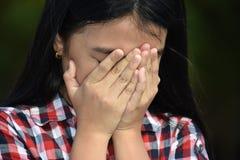 Filipina Adolescent novo infeliz imagens de stock royalty free