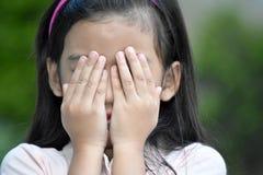Filipina Adolescent novo vergonhoso fotografia de stock