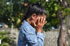 Filipina Adult Female And Failure jovem imagem de stock