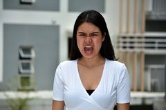 Filipina Adult Female giovanile pazzo fotografie stock