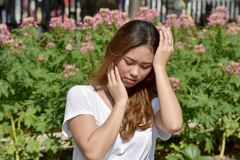 Filipina Adult Female grazioso facente male immagini stock