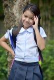 Filipina Child Girl Student Wondering stock foto's
