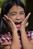 Filipina Female Adolescent bonito surpreso imagens de stock royalty free
