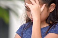 Filipina Female Adolescent infeliz imagens de stock
