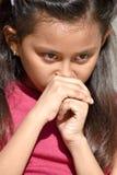 Filipina Female Adolescent preocupado imagens de stock