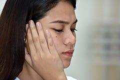 Filipina Female Alone immagine stock