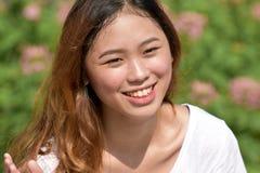 Filipina Female de sourire image libre de droits