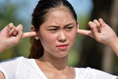 Filipina Female grazioso calmo fotografia stock